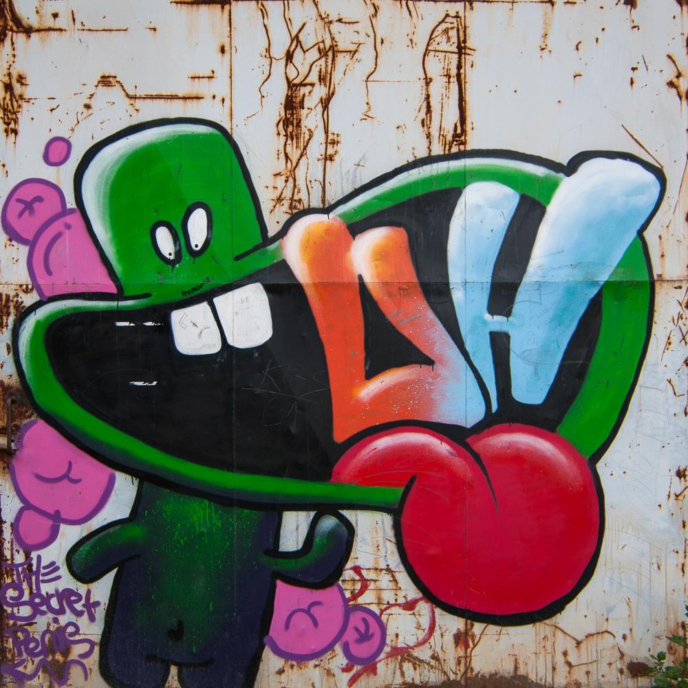 Graffiti am alten Güterbahnhof in Heiligenhaus - 5